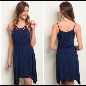 "💯👌 ""NU LABEL"" NAVY BLUE DAY TO NIGHT DRESS 👗"